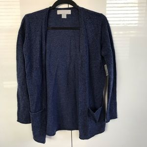 Ply Cashmere Cardigan Sweater with Pockets Size PM